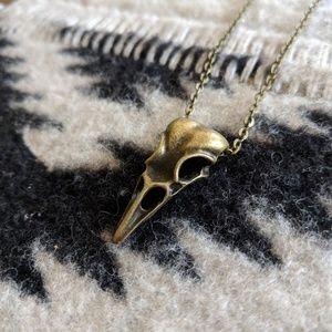 Jewelry - Bronze Bird Skull Cordivae Bohemian Necklace